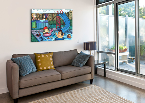 POOL PARTY - BUGVILLE CRITTERS ROBERT STANEK  Canvas Print