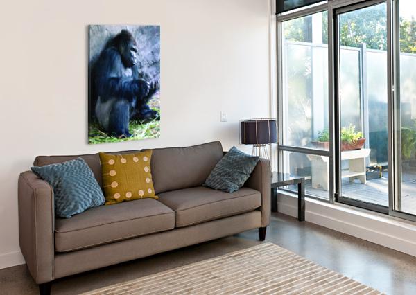 ALONE MOUNTAIN GORILLA AFRICA 360 STUDIOS  Canvas Print