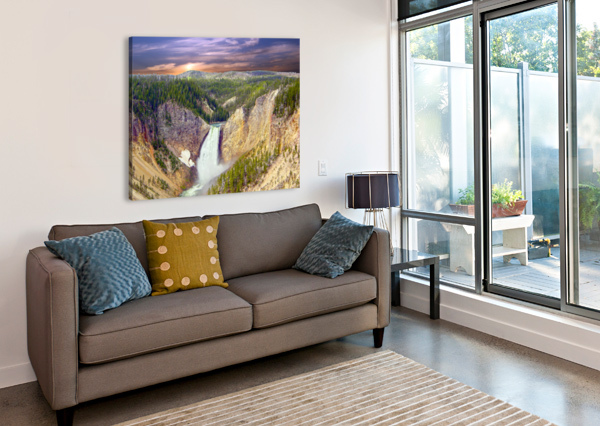 MIGHTY YELLOWSTONE 360 STUDIOS  Canvas Print