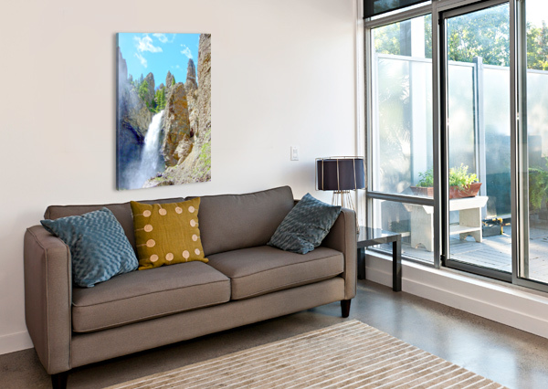 YELLOWSTONE WATERFALL - GRAND CANYON OF THE YELLOWSTONE RIVER - YELLOWSTONE NATIONAL PARK 360 STUDIOS  Canvas Print