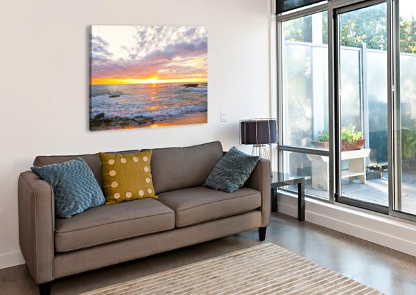 GOLDEN RAYS ACROSS THE BAY 360 STUDIOS  Canvas Print