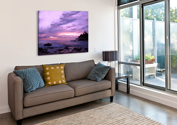 PURPLE SKIES OVER HAWAII 360 STUDIOS  Canvas Print