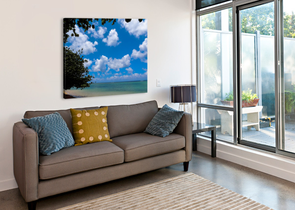 TURQUOISE WATERS & BLUE SKIES 360 STUDIOS  Canvas Print