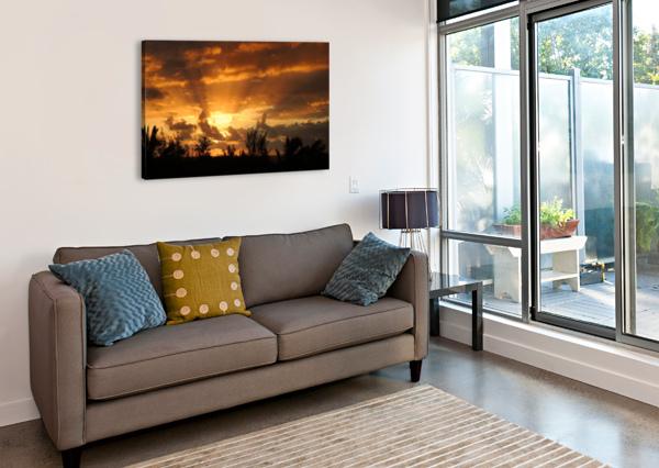 GOLDEN HEAVENS 360 STUDIOS  Canvas Print