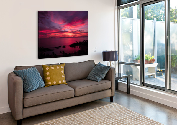 BLISS ONE - PINK AND PURPLE KISSED SKIES OVER HAWAII 360 STUDIOS  Canvas Print