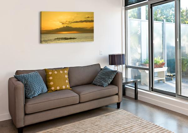 LONG CANOES AT SUNSET 360 STUDIOS  Canvas Print