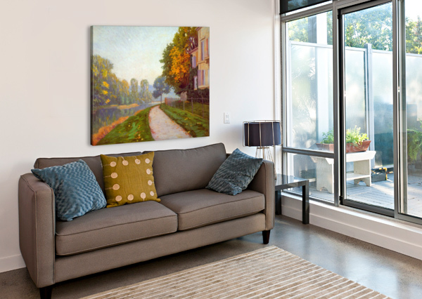 RIVERBANK BY CAILIEBOTTE CAILLEBOTTE  Canvas Print