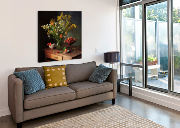 FLOWER BY   1X  Canvas Print