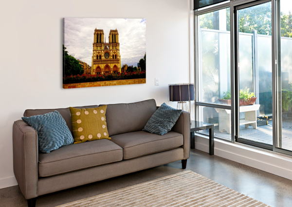 JEANNE D ARC AND SAINT CROIX CATHEDRAL AT ORLEANS   FRANCE 1 OF 7 24  Canvas Print
