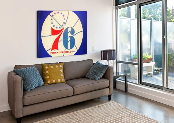 VINTAGE PHILADELPHIA 76ERS ART ROW ONE BRAND  Canvas Print