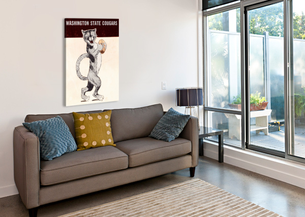 1962 WASHINGTON STATE COUGARS ART ROW ONE BRAND  Canvas Print