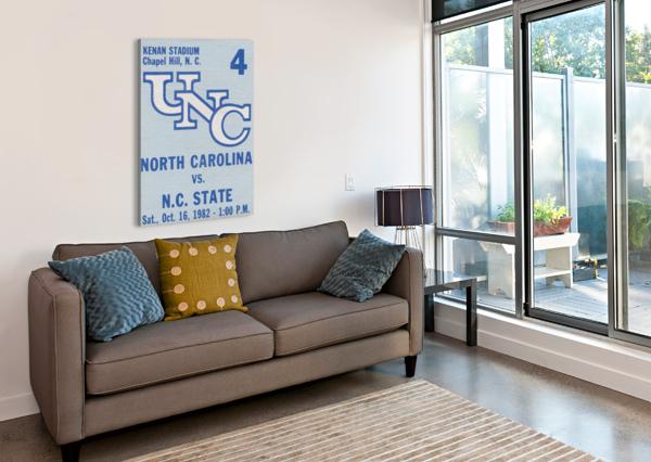1982 NORTH CAROLINA VS. NC STATE ROW ONE BRAND  Canvas Print