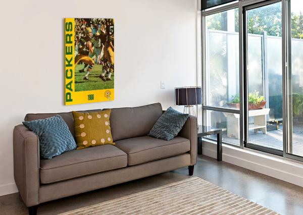 1966 GREEN BAY PACKERS FOOTBALL ART ROW ONE BRAND  Canvas Print