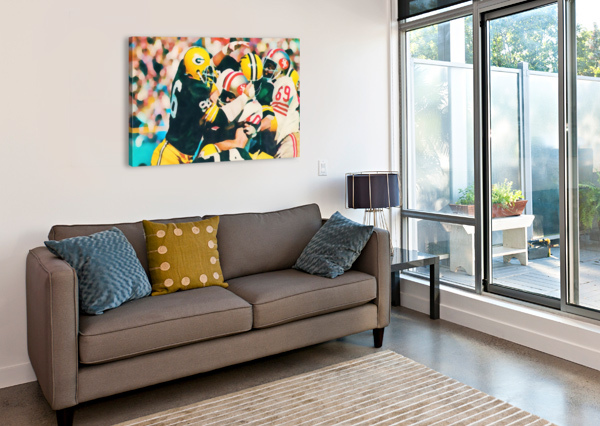 VINTAGE GREEN BAY PACKERS ART DIGITAL PAINTING ROW ONE BRAND  Canvas Print
