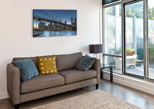 NEW YORK - BLUE HOUR OVER MANHATTAN 1X  Canvas Print