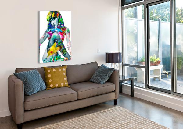 SUZANNE  FANNY ARTISTE PEINTRE  Canvas Print