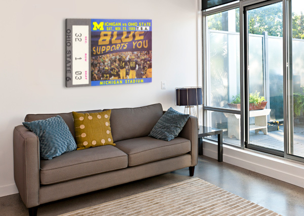 1985 MICHIGAN VS. OHIO STATE ROW ONE BRAND  Canvas Print
