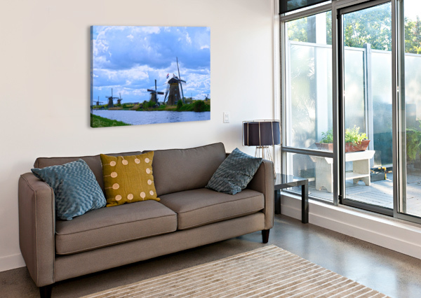 WINDMILLS OF THE NETHERLANDS 1 OF 4 360 STUDIOS  Canvas Print