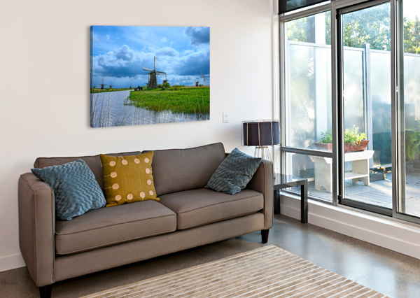 WINDMILLS OF THE NETHERLANDS 3 OF 4 360 STUDIOS  Canvas Print