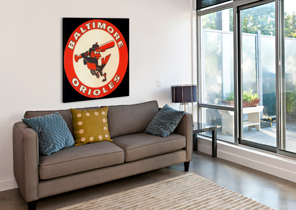1960S BALTIMORE ORIOLES ART ROW ONE BRAND  Canvas Print