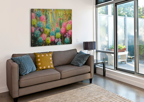 FLOWER CANDY  ANGIE WRIGHT ART  Canvas Print