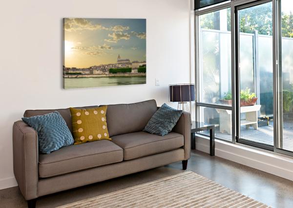 BLOIS AND CATHEDRALE SAINT LOUIS ACROSS THE LOIRE 360 STUDIOS  Canvas Print