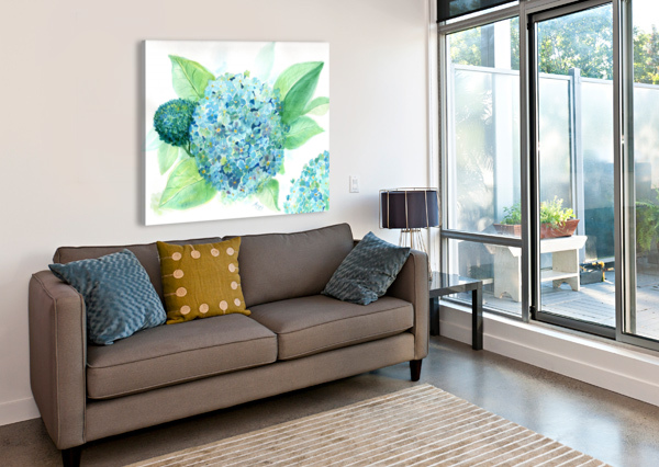 LOVELY BLUE HYDRANGIA  ANET  Canvas Print