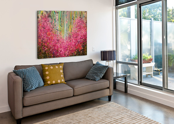 FLORAL CASCADE  ANGIE WRIGHT ART  Canvas Print