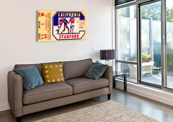 1964 CALIFORNIA VS. STANFORD ROW ONE BRAND  Canvas Print