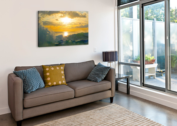 INTO THE SUNSET 360 STUDIOS  Canvas Print