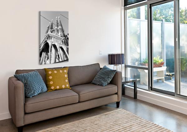 BARCELONA CATHEDRAL - LA SAGRADA FAMILIA IN BLACK AND WHITE BENTIVOGLIO PHOTOGRAPHY  Canvas Print