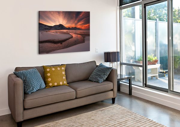 GOLDEN SUNSET 1X  Canvas Print