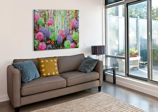 SUMMER GARDEN  ANGIE WRIGHT ART  Canvas Print