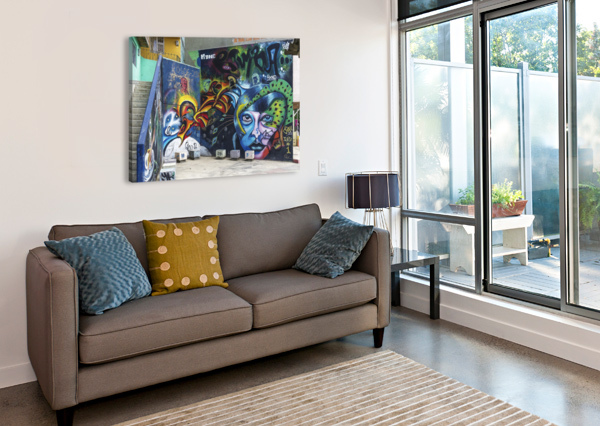 BACKGROUND GRAFFITI LOVELY AND NICELY  Canvas Print