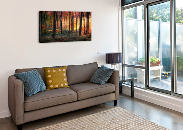 AUTUMN WOODLAND SUNRISE 1X  Canvas Print
