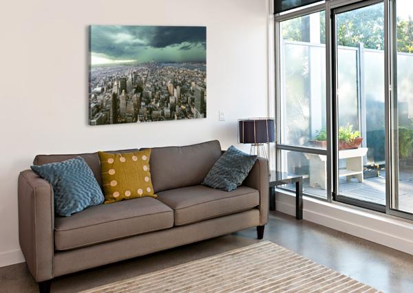 NEW-YORK UNDER STORM BY PAGNIEZ   1X  Canvas Print