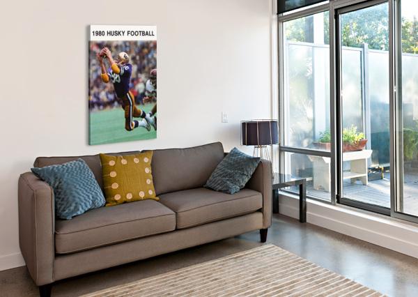 1980 WASHINGTON HUSKIES FOOTBALL POSTER ROW ONE BRAND  Canvas Print
