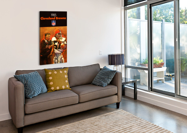 1985 CLEVELAND BROWNS FOOTBALL POSTER ROW ONE BRAND  Canvas Print