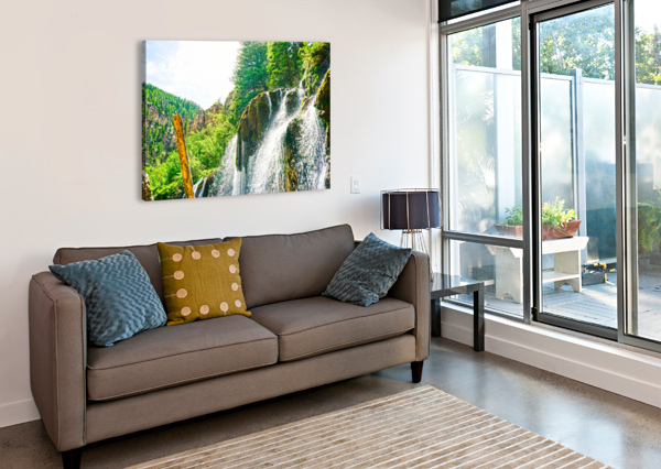 WATERFALL COUNTRY COLORADO 1 OF 4 24  Canvas Print