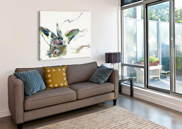 CHAMELEON CARLA WHITE  Canvas Print