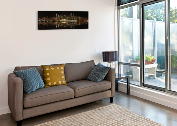 VANCOUVER SKYLINE PANORAMA  WESLEY ALLEN SHAW  Canvas Print