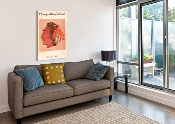 1965 CHICAGO BLACK HAWKS ART ROW ONE BRAND  Canvas Print