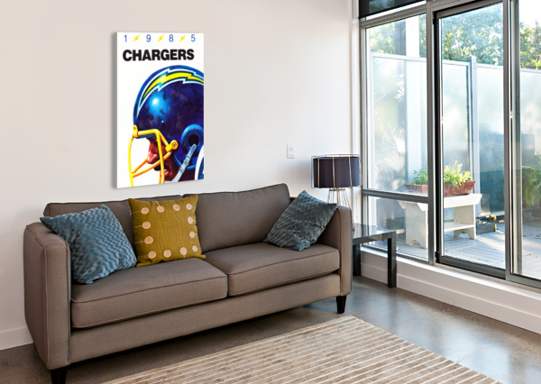 1985 SAN DIEGO CHARGERS FOOTBALL POSTER ROW ONE BRAND  Canvas Print