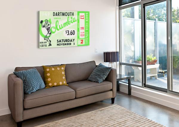 1949 DARTMOUTH VS. COLUMBIA ROW ONE BRAND  Canvas Print