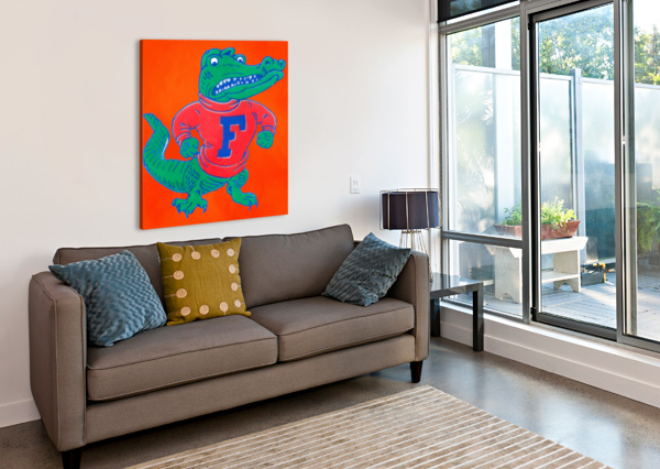RETRO FLORIDA GATOR ART ROW ONE BRAND  Canvas Print