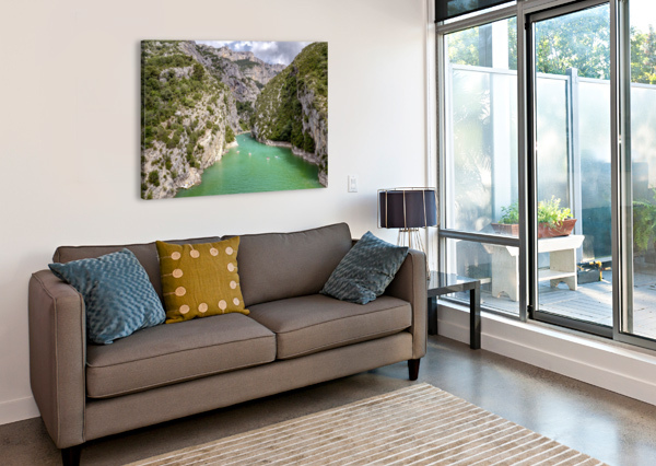 LES GORGES DU VERDON ALLE CHRISTIAN  Canvas Print