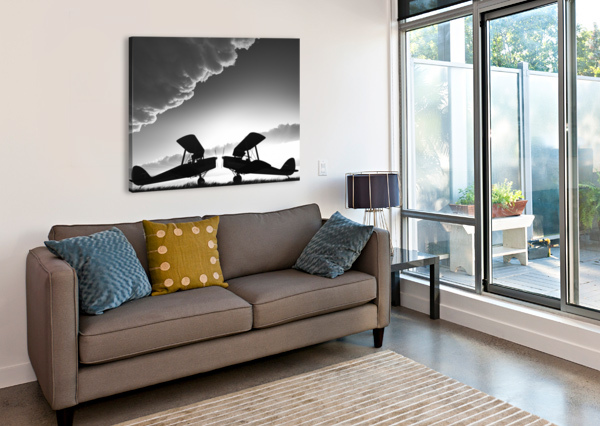 BIPLANES FACE OFF BOB ORSILLO  Canvas Print