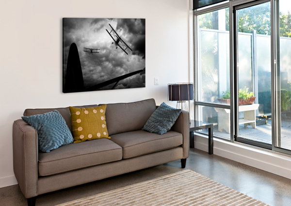 AIR PURSUIT  BOB ORSILLO  Canvas Print