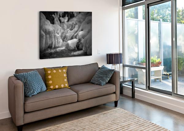 EARLY SPRING GREAT FALLS BOB ORSILLO  Canvas Print