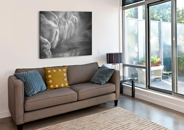 WINTER RIVER SMOKE BOB ORSILLO  Canvas Print